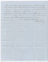 Quaker Farmer Writes to Congressman Morgan to Condemn Stephen Douglas Nebraska Bill Allowing Slavery in New Territories
