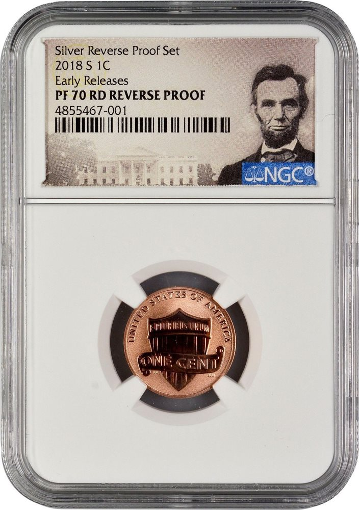 2018-S Lincoln Cent NGC Reverse Proof 70 Red  #M903