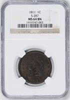 1811 CLASSIC HEAD 1C MS64 Brown