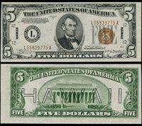 FR. 2301 $5 1934-A Hawaii Note L55839775A Trimmed? Choice CU