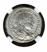 Elagabalus NGC AU 5/5 3/5 -AD 218-22 AD 218 Rome Denarius AR 18mm BOLD COIN 068