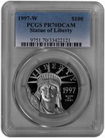 1997-W $100 Platinum Statue of Liberty (PCGS-PR70DCAM)