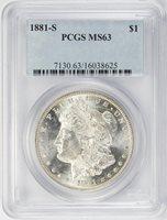 1881-S Morgan Dollar PCGS MS-63