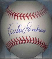 Tito Landrum Los Angeles Dodgers Autographed Signed OML Baseball COA