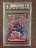 1987 DONRUSS - GREG MADDOX ROOKIE CARD - BGS 8.5 NM-MT+