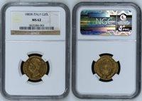 20 Lire 1883 R Italy Km 37 1883r gold Ngc Ms 62