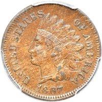 1867 Indian Head Cent XF 40, PCGS 1c C00051162