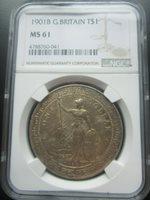 MS61 NGC 1901 B Trade Dollar very nice