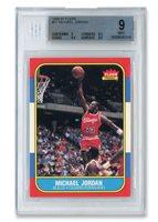 1986 FLEER #57 MICHAEL JORDAN ROOKIE - BGS MINT 9