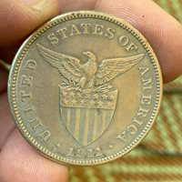 US PHILIPPINES ONE PESO 1911-S SEMI KEY DATE SCARCE #481