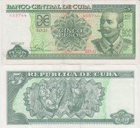 Cuba 5 Pesos 2015 Maceo Pick#116c Unc