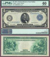 1914 $5.00 FR-887a Dallas