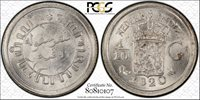 Netherlands East Indies 1/10 Gulden 1920 MS66 PCGS silver KM#311 Key Date