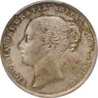 Great Britain, Victoria Young Head left 1 Shilling Silver 1861 K...