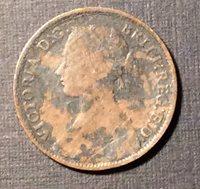 1861 Great Britain Queen Victoria Half Penny