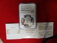 Kyrgyzstan 2013 Great Kyrgyz Kaganat NGC PF69 UC .925 silver .999 gold plated