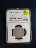 1937 Ireland Two Shillings NGC VF35 SILVER 2S Coin PRICED TO SELL QUICKLY!!