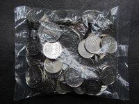 CZECH REPUBLIC ORIGINAL SEALED COIN BAG of 1 Korun 2011 KM-7 LION UNC 100 PCS