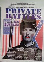 Private Battles, by Jan Buttram Poster, Judith Anderson Theatre 1998 Abingdon