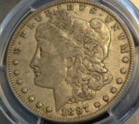 1887-O Morgan Dollar PCGS XF40 Superb for Grade Scratch-Free Holder CHN