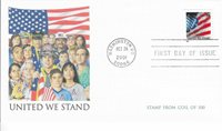 US Stamps FDC 34 Cents. United We Stand. Scott# 3550.