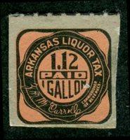 SRS AR L53a 1939 $1.12 1 gal, black salmon mint, VF