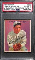 1933 Goudey Charlie Gehringer #222 PSA 4 (Autograph Grade 7) - Only 19 PSA/DNA Exist w. Only 1 Graded Higher! (d. 1993)