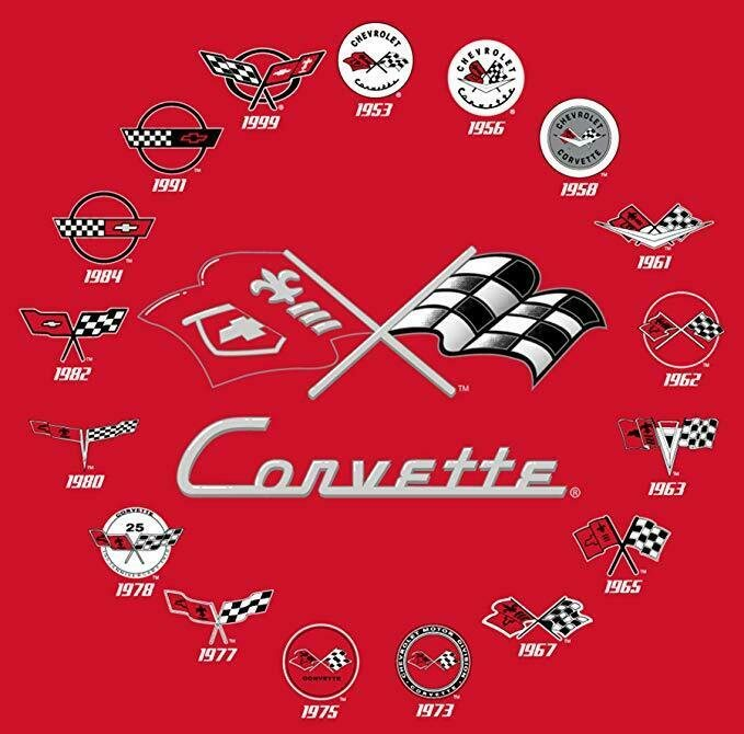 "Corvette Shirt T-shirt White Mens 2-Sided Logo/'s Racing JH Design /""BLOWOUT SALE/"""