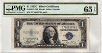 Fr.1612 $1 1935 C D-E Block PMG GEM Uncirculated 65 EPQ