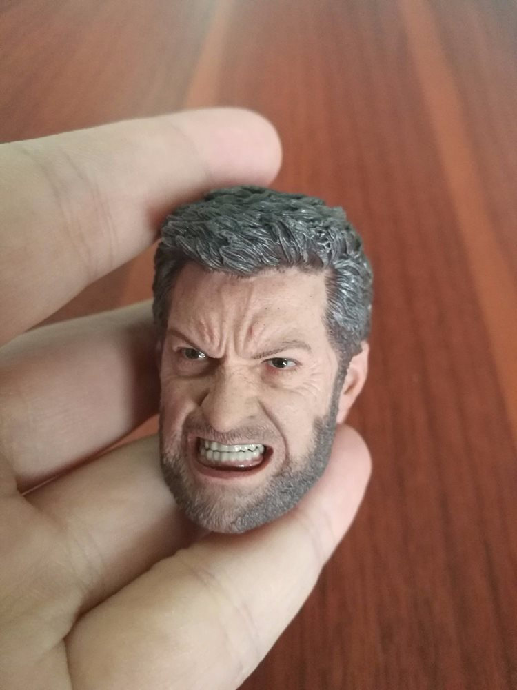 """1//6 Male Head PVC Carved Sculpt Angry Russia FSB  Fit 12/"""" Man Action Figure Toy"""