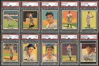 Lot # 296: 1941 Play Ball Near-Complete Set (72) with PSA and Some Signed