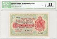 £5 1960 Falklands Islands