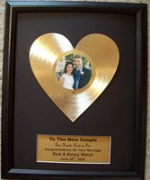 Heart of Gold Shaped LP Record Valentine's Anniversary Business Sweetheart Gift