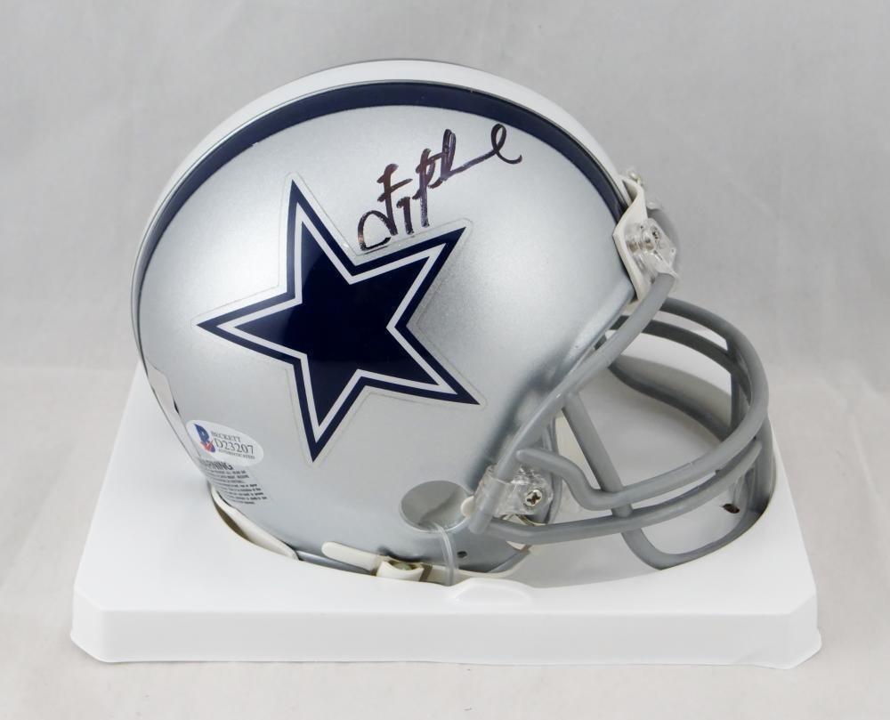 buy popular 8baa9 740bd Troy Aikman Autographed Signed Dallas Cowboys Mini Helmet BECKETT COA