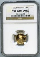 2005-W $5 gold eagle ngc pf70