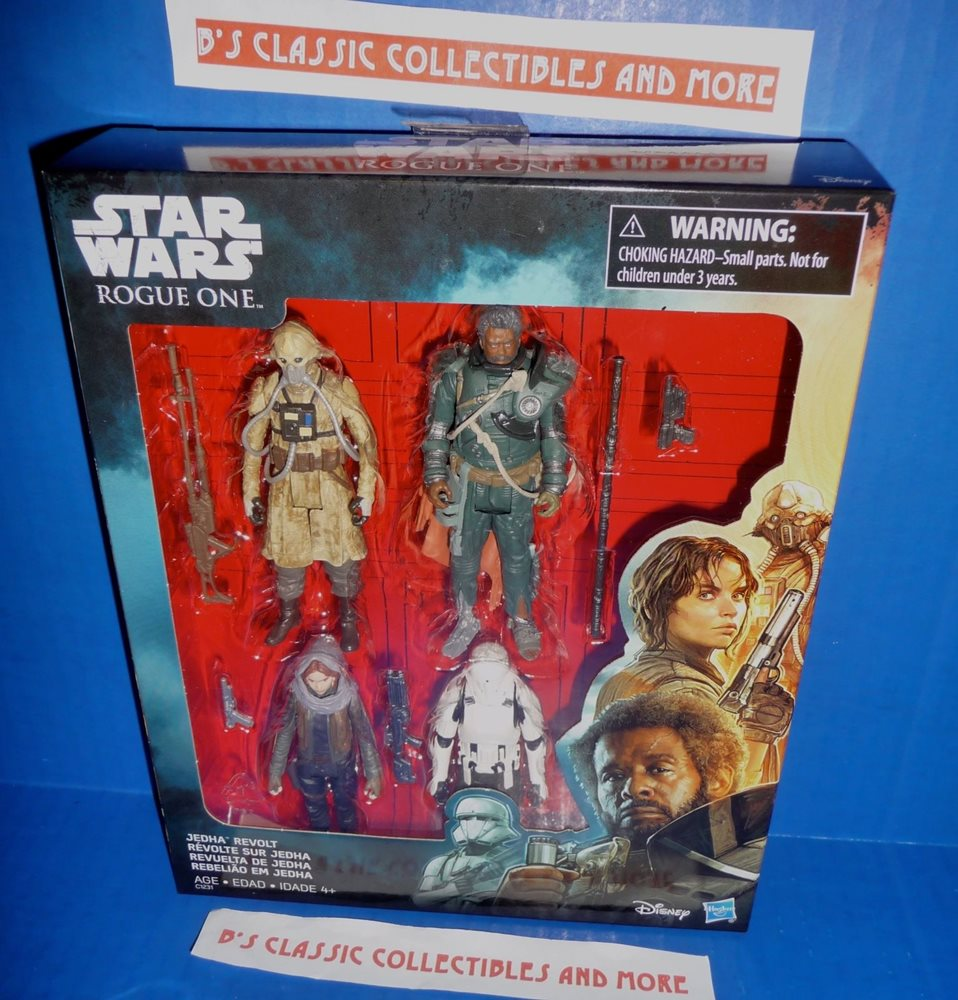 JEDHA REVOLT 4-Pack SAW GERRERA EDRIO TWO TUBES JYN Star Wars Rogue One 3.75/""