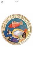 1997 liberia marine life protection 5oz silver or nickel coin coa