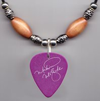 Martina McBride Signature Purple Guitar Pick Necklace - 2010 Tour