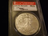 2012-S $1 Eagle Mercanti Label First Strike PCGS MS 70
