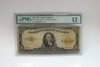 Series of 1922 Large Size $10 Gold Certificate PMG 12 FINE Fr#1173