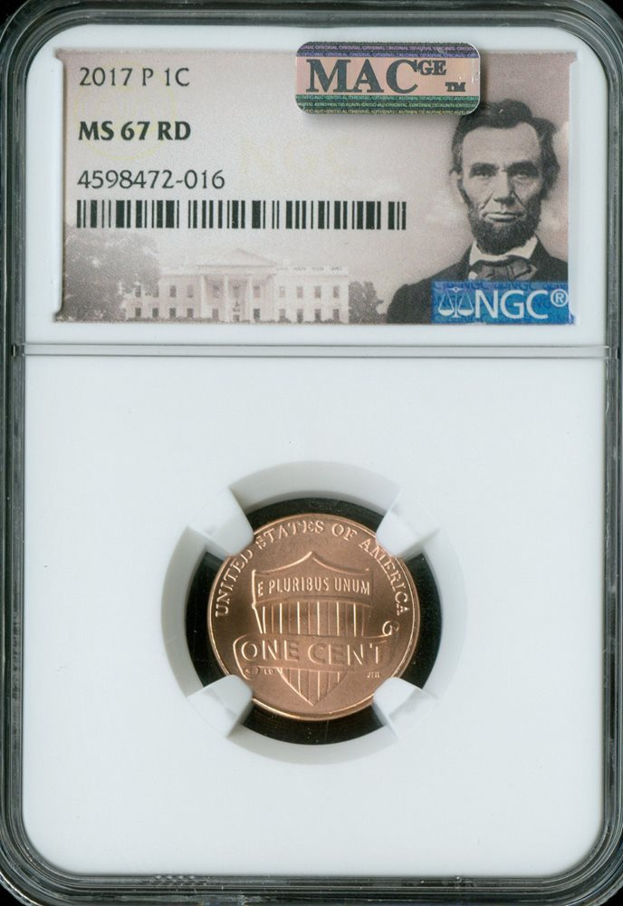 2017 P Lincoln SHIELD Cent 1c PCGS MS67RD  SPOTLESS