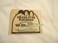 Grand Funk Railroad KRLA Anaheim Convention Center CA 1970 newsprint ad