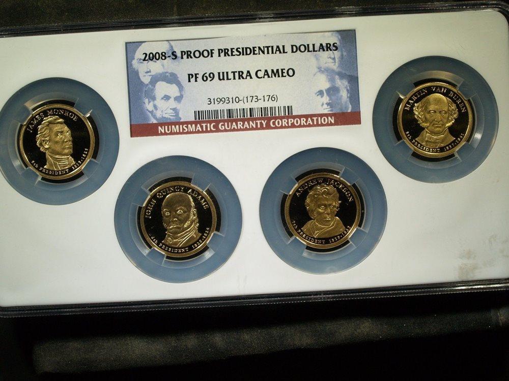 2008-S James Monroe Presidential Dollar PR69DCAM PCGS Proof 69 Deep Cameo PL