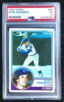 1983 Topps Ryne Sandberg #83 Baseball Card Chicago Cubs PSA 5 EX