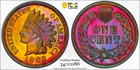 Awesome and Undergraded 1902 Proof Indian Cent 1902 Indian Cent PCGS Gold Shield PR-66RB.