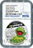 2019 DISNEY MUPPETS: KERMIT THE FROG - NGC PF70 FIRST RELEASES - 1ST IN SERIES