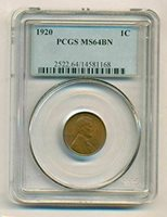 1920 Lincoln Wheat Cent MS64 BN PCGS