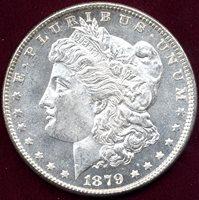 1879 MORGAN $1 MS64 PL