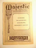 """March 1932 playbill: Majestic Theatre, Harrisburg, PA: """"Strictly Dishonorable"""""""