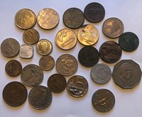 Nice Mixed Lot of 25 Assorted World/Foreign Coins